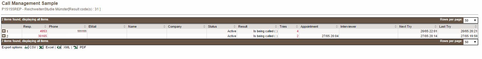 Call Management Sample