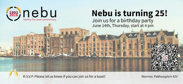 Join us on the 14th of June for a small celebration