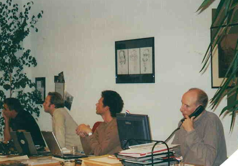 A picture from Nebu's archive: Mustapha, Eric, Jan
