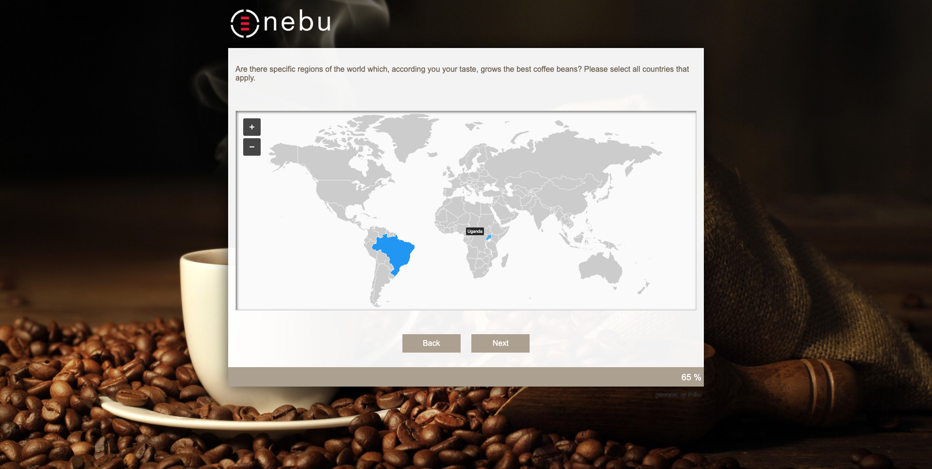 A Map Picker plugin implemented in one of Nebu's questionnaires